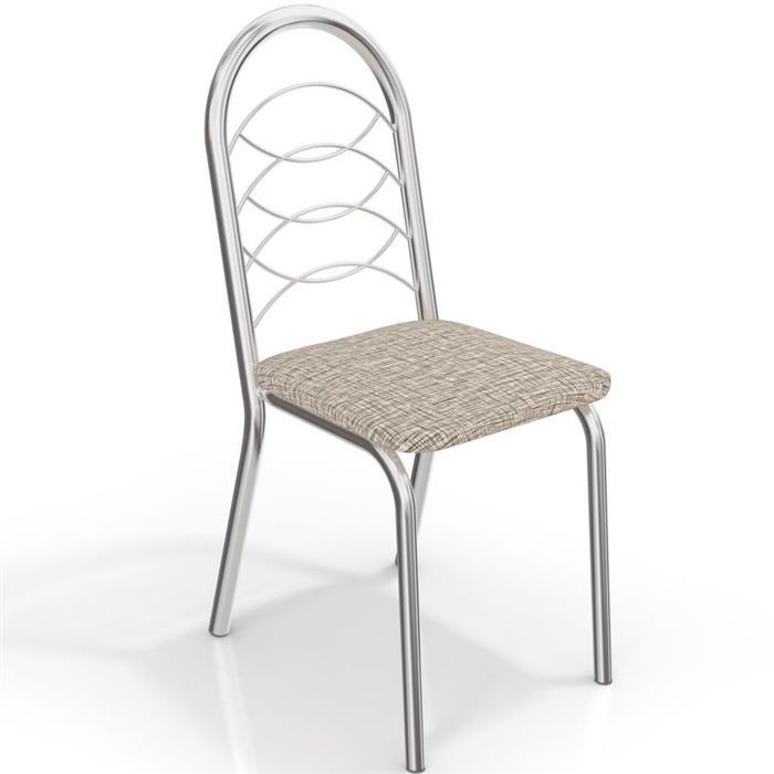 Conjunto Kappesberg Mesa MO42CR Tampo em MDP com 4 Cadeiras C009CR Cromada