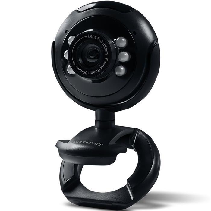 Webcam Multilaser WC045 com Microfone Lente de Vidro USB