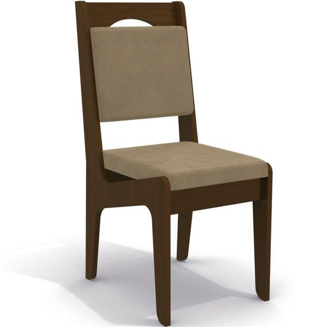 Conjunto Kappesberg Mesa Pop CSJ122 MDP com 6 Cadeiras Pop 2CAD105 Estofada