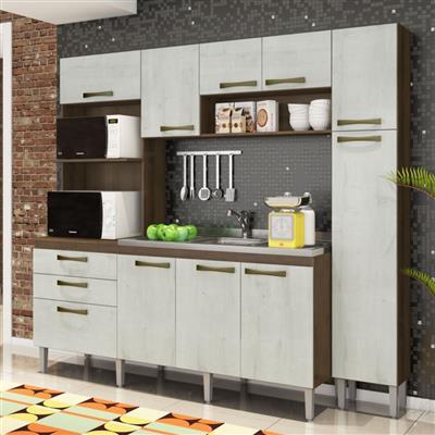 Cozinha Compacta Gralar Star MDF 10 Portas 2 Gavetas