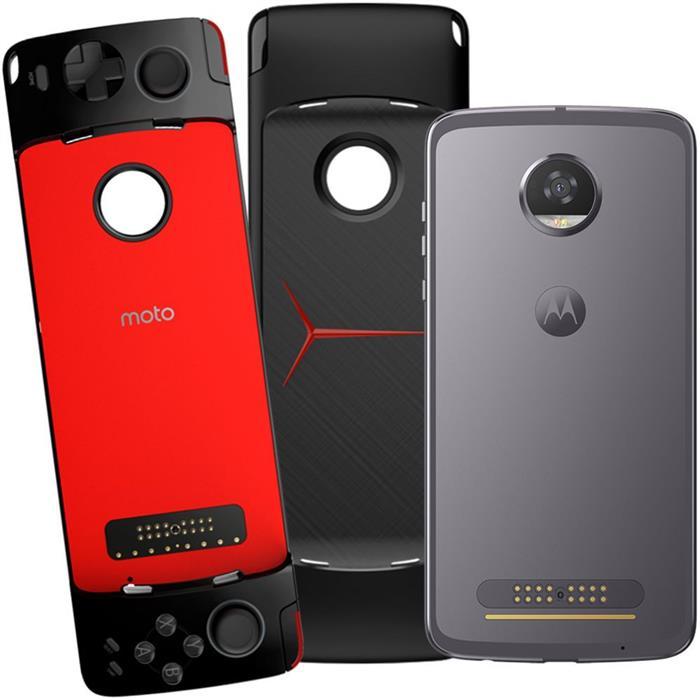 "Smartphone Motorola Moto Z2 Play GamePad 5.5"" Dualchip 64GB 4G Câm 12MP + Frontal 5MP"