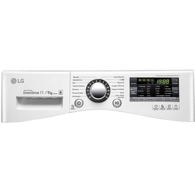 Lava e Seca LG Prime Touch WD11WP6 11kg Branca