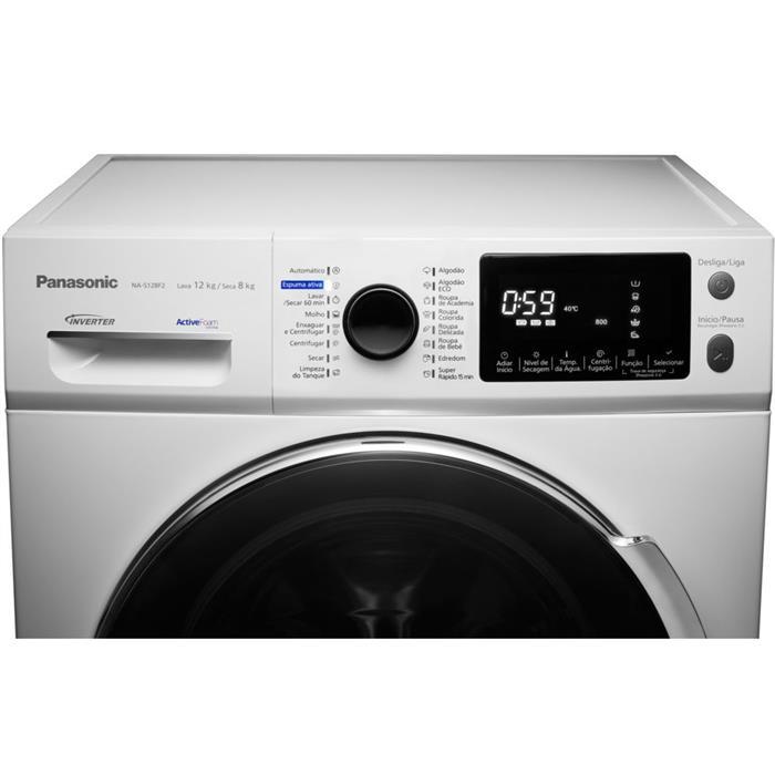 Lava e Seca Panasonic NA-S128F2WBR 12kg Branca