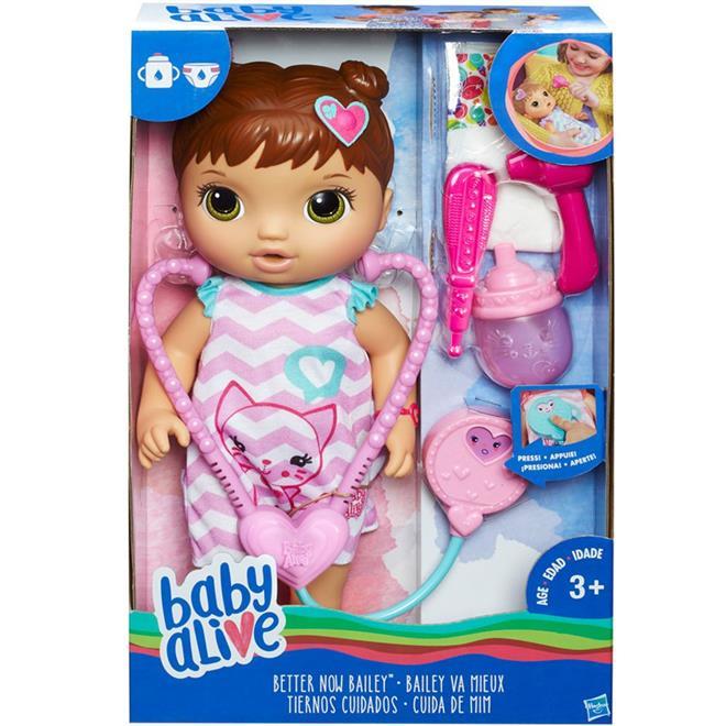 Boneca Hasbro C2692 Baby Alive Cuida de Mim Morena