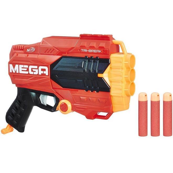 Lança Dardos Hasbro A0103 Nerf Mega Tri Break