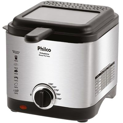 Fritadeira Elétrica Philco Depp Fry 1,8 Litros Inox