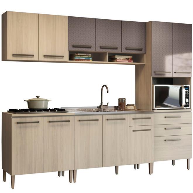 Cozinha Completa Kappesberg Delicate 10 Portas 4 Gavetas 5 Peças