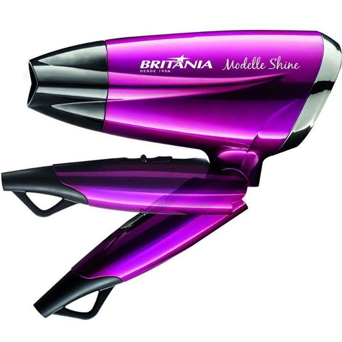 Kit Secador de Cabelo + Escova Alisadora Britânia Modelle Shine com Maleta