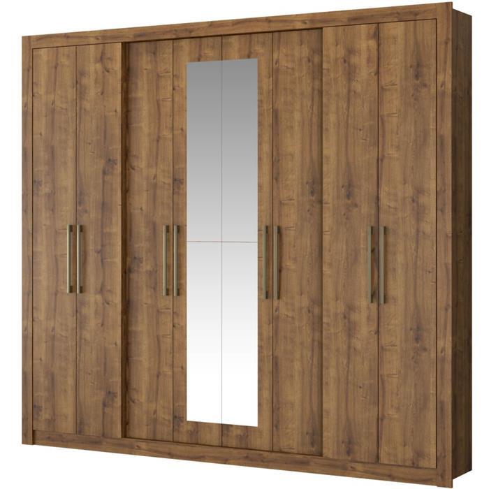 Guarda Roupa Carraro Hester 1096 8 Portas com Espelho