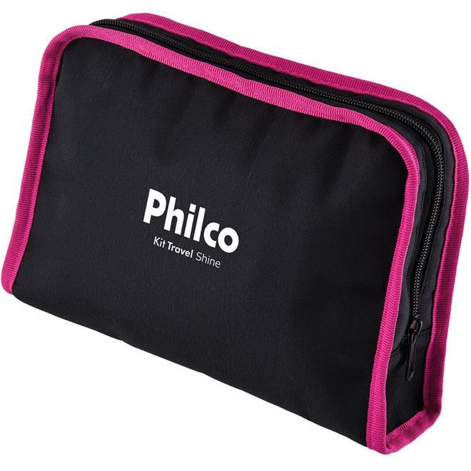 Kit Secador de Cabelo + Chapinha Philco Travel Shine com Nécessaire