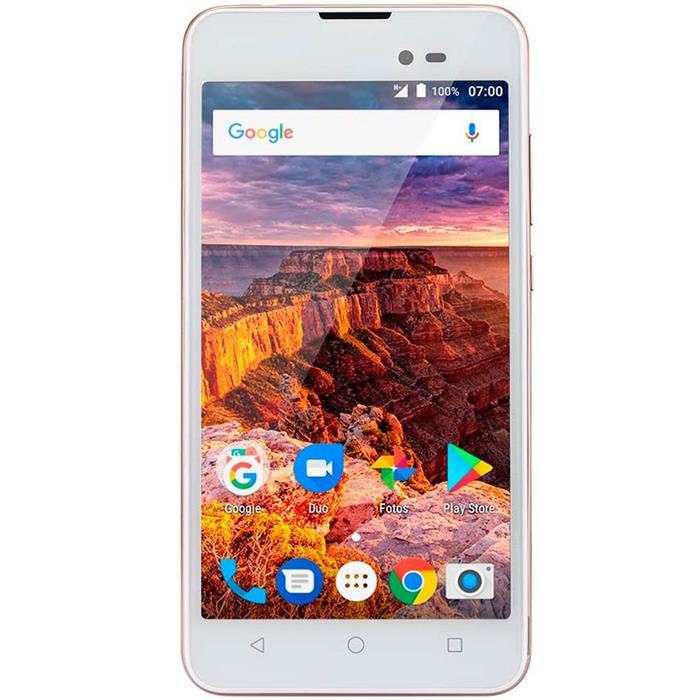 "Smartphone Multilaser MS50L 3G Tela 5"" Quadcore 1GB RAM Dual Chip Câm 8MP + Frontal 2MP"