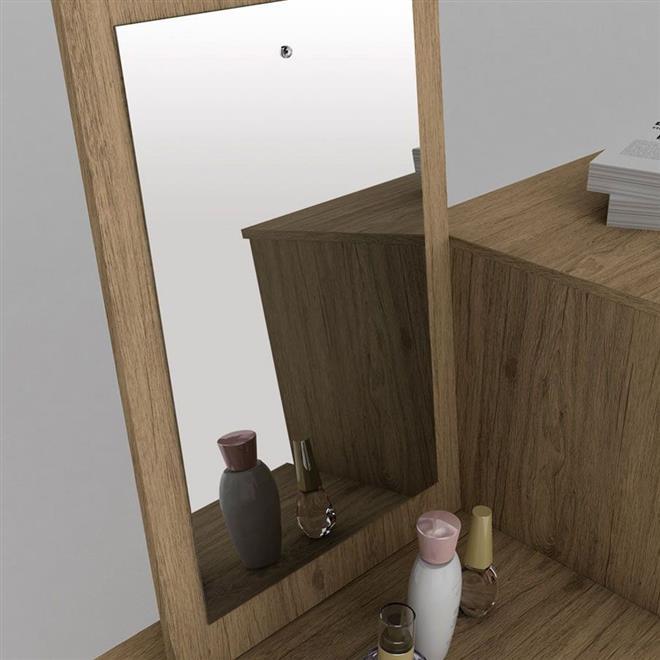 Cômoda Henn Viena D712-10 2 Portas 6 Gavetas com Espelho
