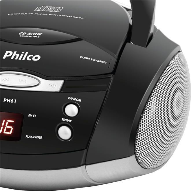 Rádio Philco PH61 Display Digital FM MP3 CD