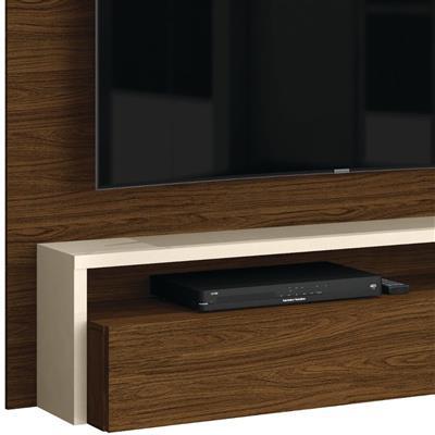"""Painel para TV até 58"""" Belaflex Toronto 200.1095 MDP com Vidro"""