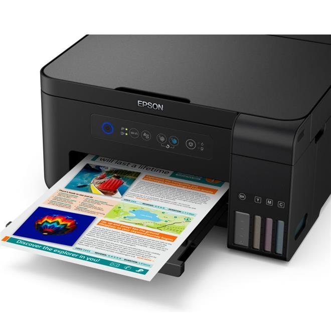 Impressora Multifuncional Epson L4150 com Tanque de Tinta Colorida USB Wifi Econtak