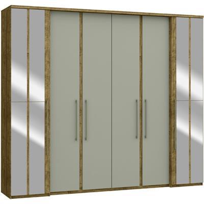 Guarda Roupa 3770A 6 Portas 6 Gavetas com Espelho