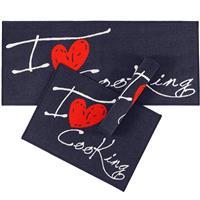 Jogo de Tapete Corttex Love Cooking 3 Peças