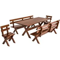 Conjunto Ballestro Country Mesa + 4 Bancos 2000 Pinus