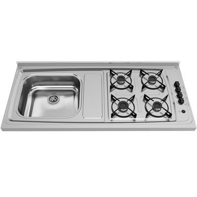 Pia de Cozinha Ghel Plus 4043 com Fogão Automático 4 Bocas
