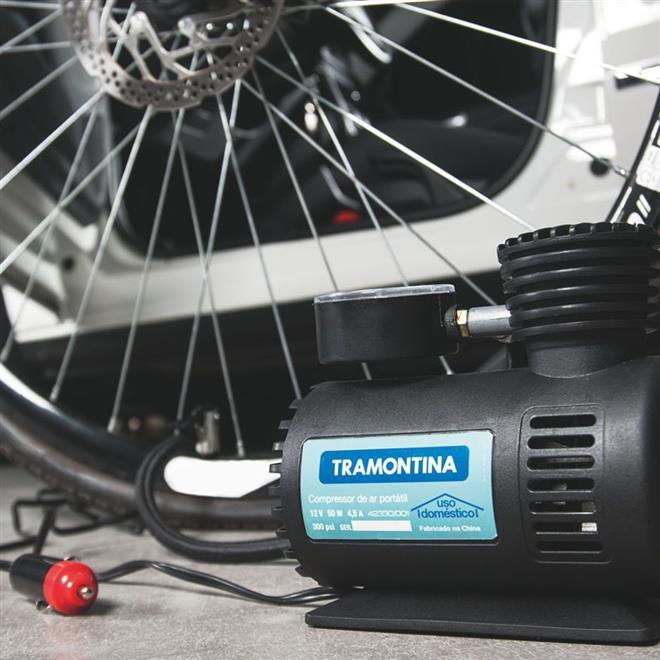 Compressor de Ar Tramontina 42330001 Portátil para Carro 12V 50W