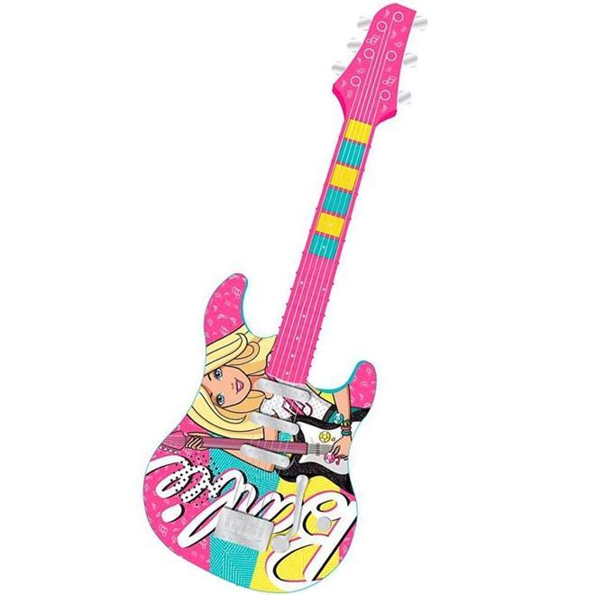 Guitarra Barão Fabulosa Barbie 8006-9 com MP3