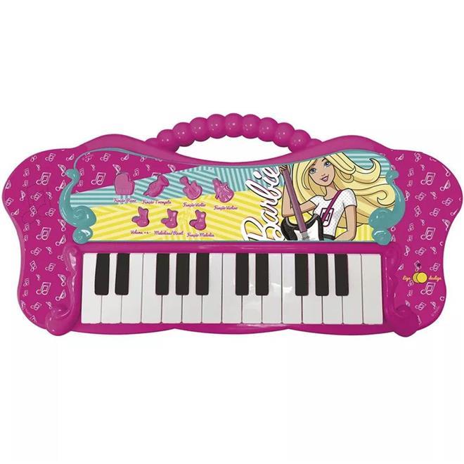 Teclado Infantil Barão Fabuloso Barbie 8007-1 25 Teclas