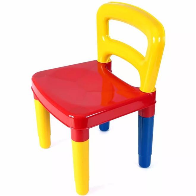 Conjunto Infantil Didático Poliplac 5825 com 2 Cadeiras
