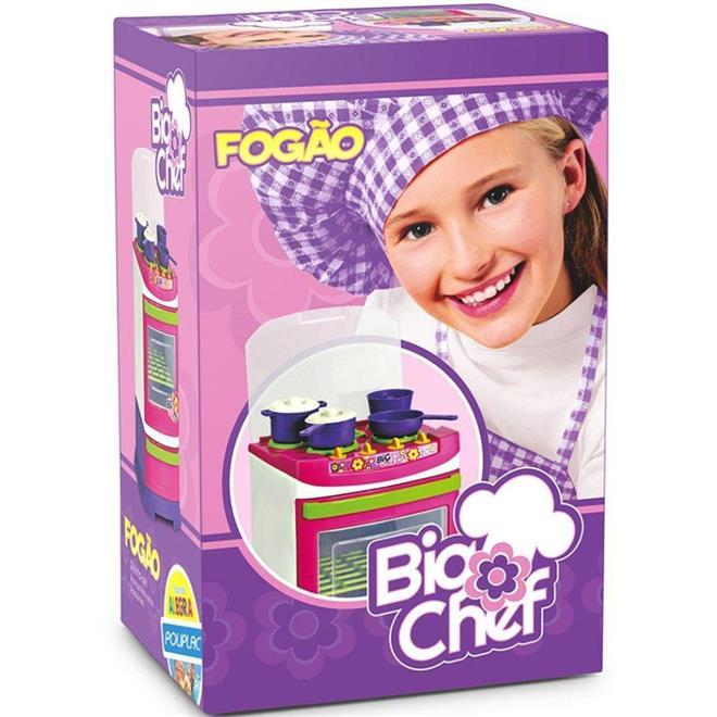 Fogão Infantil Poliplac Big Cheff 5559 com Acessórios