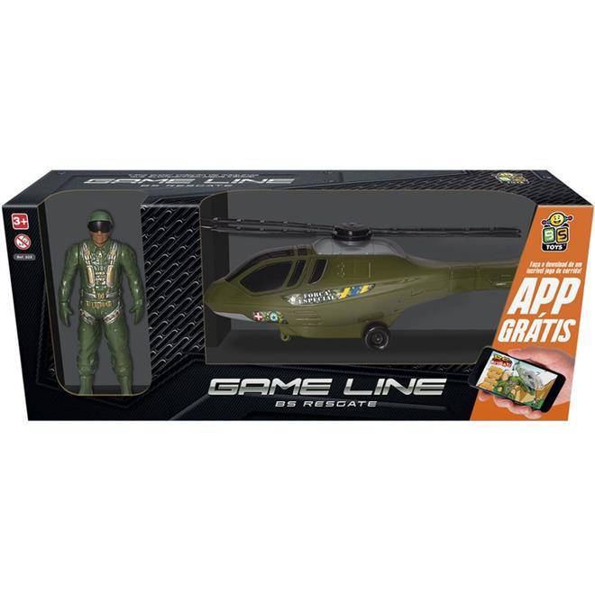 Helicóptero BS Toys Resgate 323 com Game para Celular