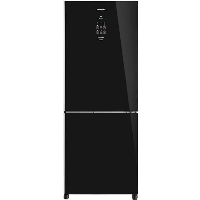 Refrigerador Panasonic NR-BB53GV3BA Black Glass Frost Free Inverter 425 Litros