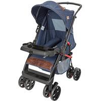 Carrinho de Bebê Tutti Baby Thor Plus 3900117 Jeans Reclinável