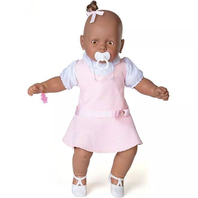 Boneca Meu Bebê Negro Estrela 1001003000060 com Chupeta